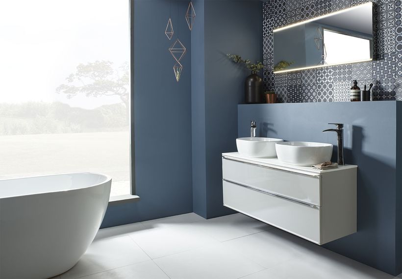 Scheme 1200mm WMU Gloss Lt Grey 2 Vessel Basin 1200mm Mirror v1 CR LR