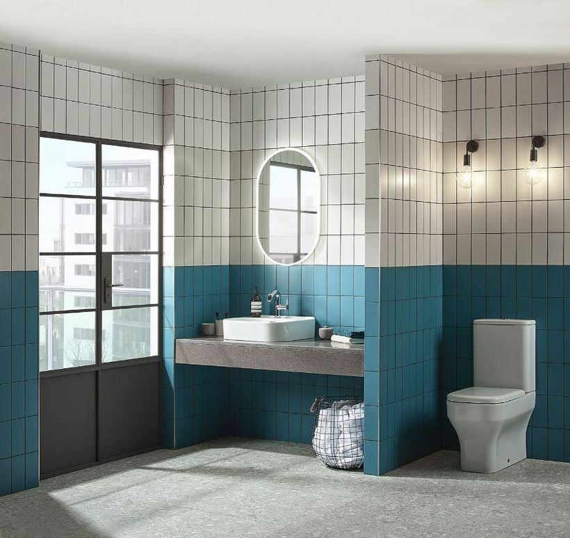 vertical tile bathroom
