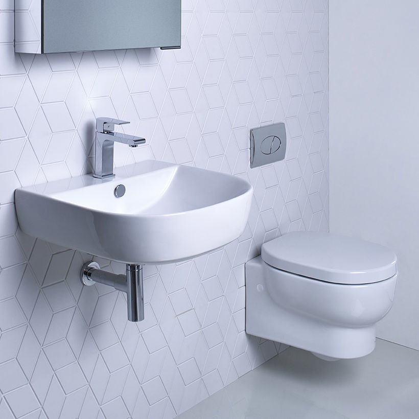 Zest 500mm basin and wall hung pan