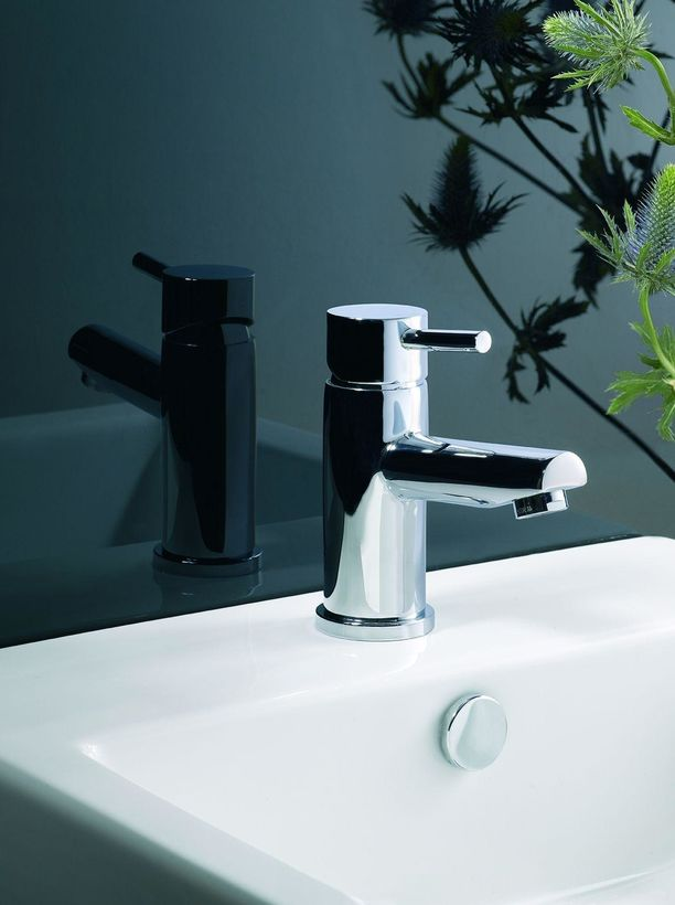 chrome lever basin mixer tap with click waste