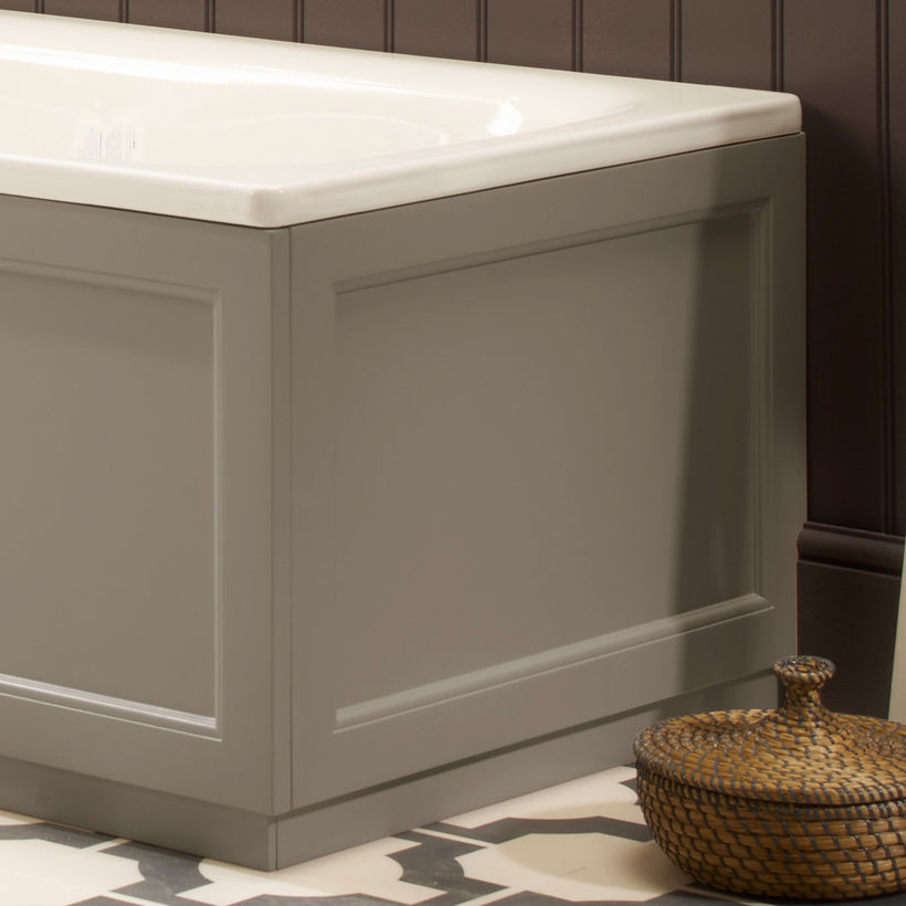 Hampton end bath panel mocha
