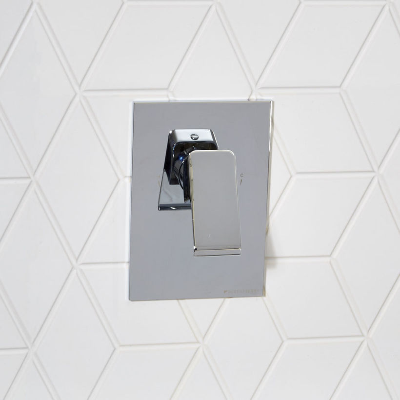 chrome concealed bath shower diverter