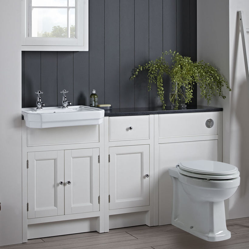 traditional white bathroom furniture