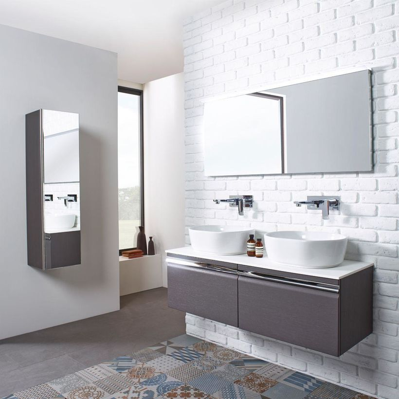 his and hers double basin bathroom vanity unit