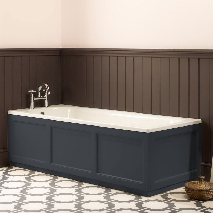 traditional slate grey bath panel