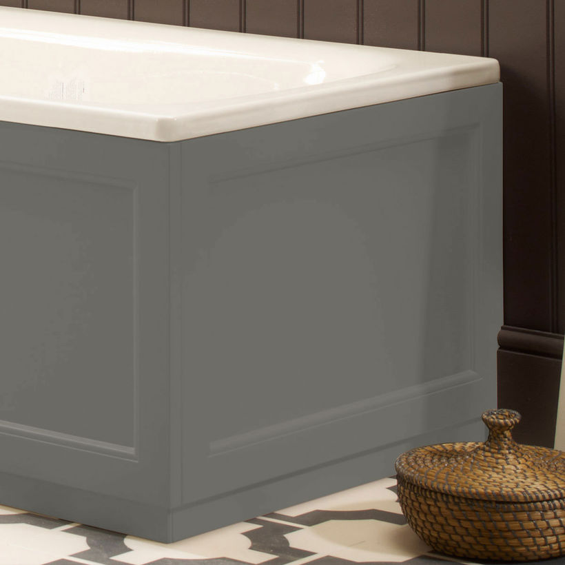 traditional dark grey bath panel