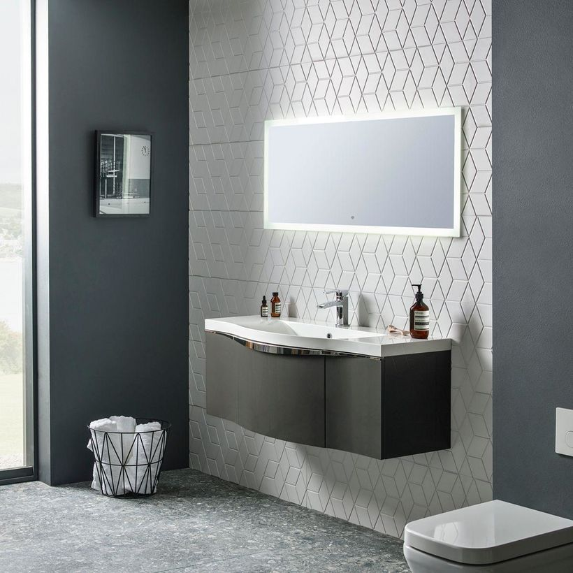 Ultra slim mirror 1200mm lifestyle