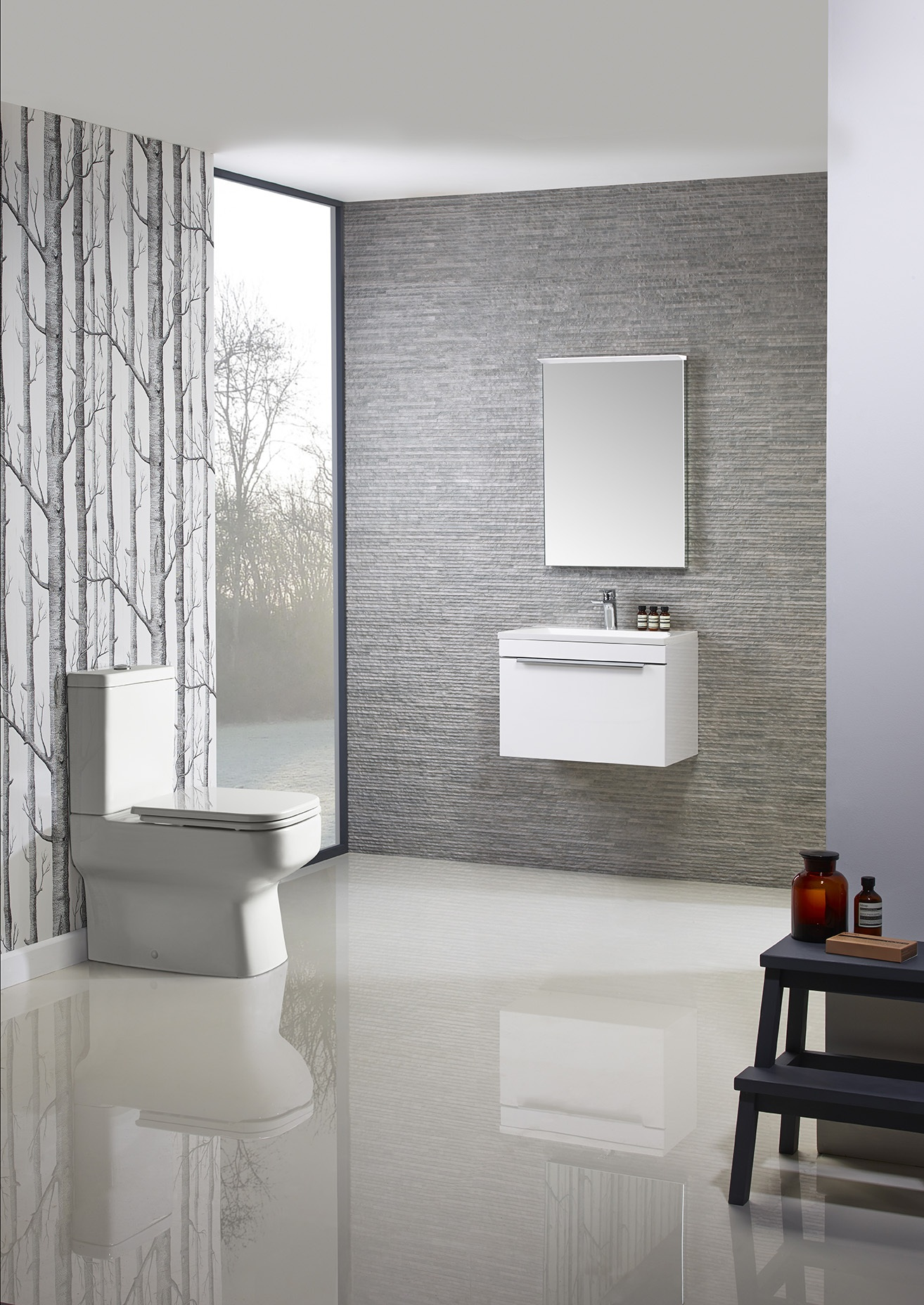 Cypher 600 wall mounted unit white roomset