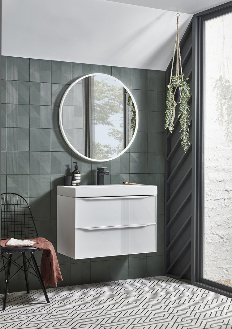 Frame 800 Bathroom Furniture Lifestyle