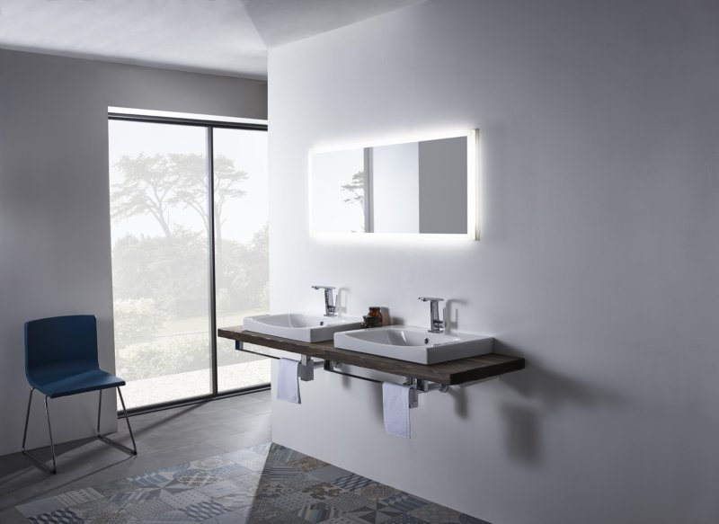 Breathe 600mm double his and hers basin lifestyle