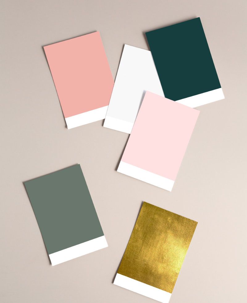 How to add colour to your bathroom paint swatches