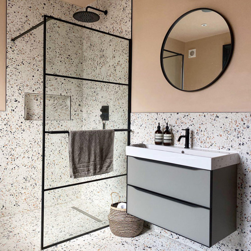 Frame bathroom furniture square inlay