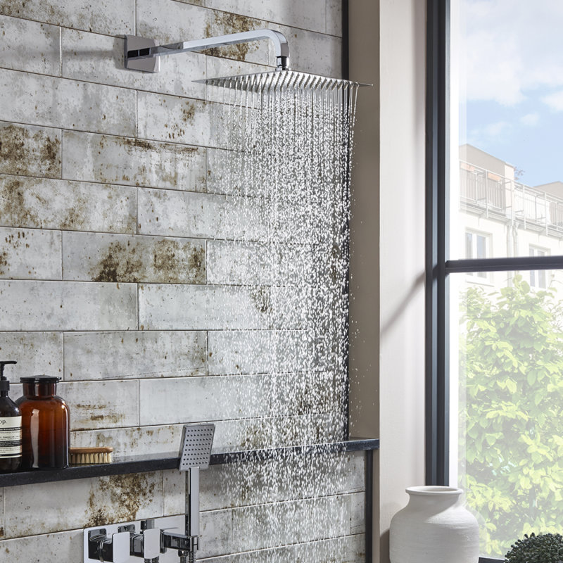 Scape shower bathroom furniture square inlay