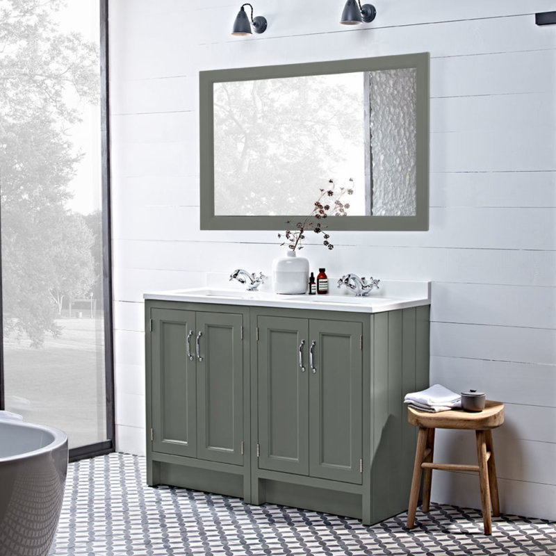 Squre inlay hampton mirror