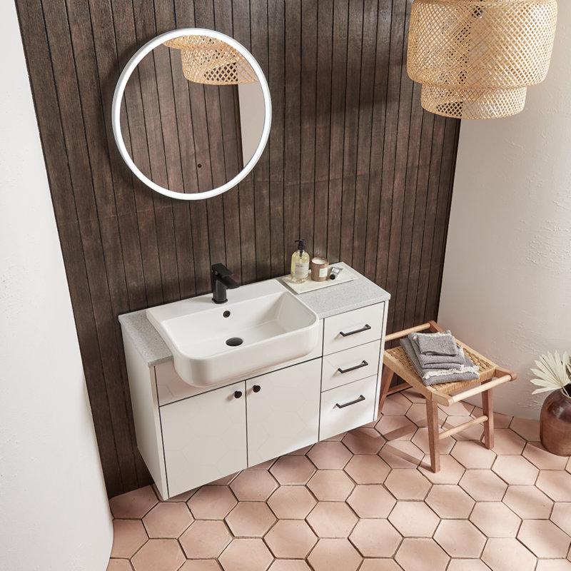 Vetro white lifestyle bathroom furniture square